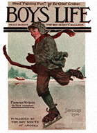 Boy Skating from the January 1914 Boys' Life cover