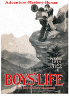 Fight on a Cliff from the March 1914 Boys' Life cover