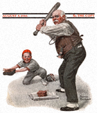 Gramps at the Plate from the August 5, 1916 Saturday Evening Post cover