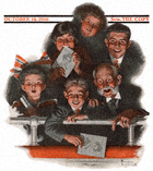 People in a Theatre Balcony from the October 14, 1916 Saturday Evening Post cover
