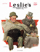 Norman Rockwell's Fact and Fiction from the January 17, 1917 Leslie's cover