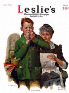 Norman Rockwell's Helping Mother from the February 1, 1917 Leslie's cover