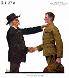 Norman Rockwell's You Can Trust Me Dad from the August 9, 1917 Life Magazine cover
