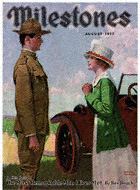 Norman Rockwell's Woman with Soldier from the August 1917 Milestones cover