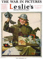 Norman Rockwell's They Remembered Me from the December 22, 1917 Leslie's cover