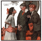 Norman Rockwell's Cousin Reginald Under the Mistletoe from the December 22, 1917 Country Gentleman cover