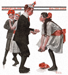 Children Dancing at a Party from the January 26, 1918 Saturday Evening Post cover