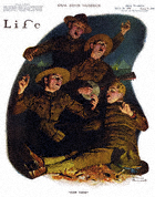 Norman Rockwell's Over There from the January 31, 1918 Life Magazine cover