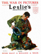 Norman Rockwell's Easter from the March 30, 1918 Leslie's cover
