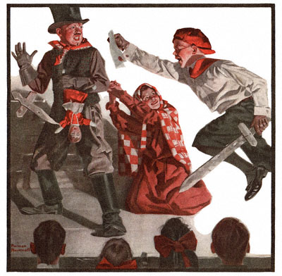 Norman Rockwell's 'School Play' was published on the cover of the 4/6/1918 Country Gentleman