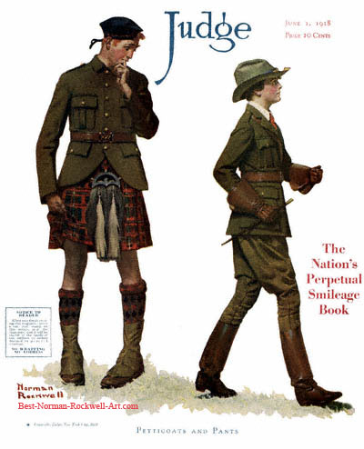 Petticoats and Pants by Norman Rockwell appeared on Judge cover June 1