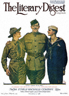 Norman Rockwell's Keep Them Smiling from the May 18, 1918 Literary Digest cover