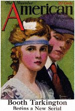 Norman Rockwell's Young Couple from the November 1918 American cover