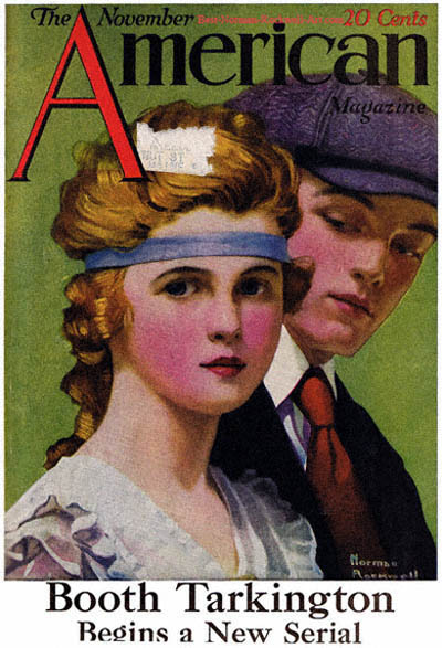 The Young Couple by Norman Rockwell appeared on American Magazine cover November 1918