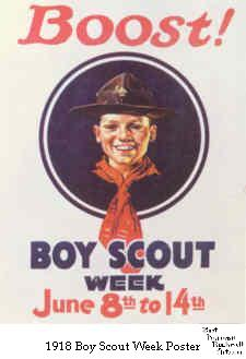 1918 Boy Scout Week Poster - Boost