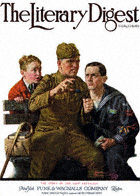 Norman Rockwell's Story of the Lost Battalion from the March 1, 1919 Literary Digest cover