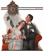 Courting Couple at Midnight from the March 22, 1919 Saturday Evening Post cover