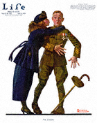 Norman Rockwell's The Coward from the April 10, 1919 Life Magazine cover