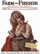 Norman Rockwell's First Shave from the April 1919 Farm And Fireside cover