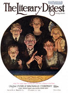 Norman Rockwell's Topics of the Day from the September 20, 1919 Literary Digest cover