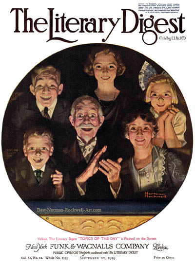Topics of the Day by Norman Rockwell from the September 20, 1919 issue of The Literary Digest