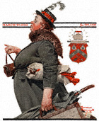 The Departing Maid from the March 27, 1920 Saturday Evening Post cover