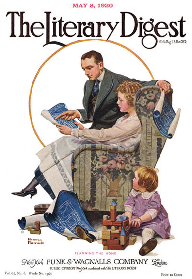 Planning the Home by Norman Rockwell from the May 8, 1920 issue of The Literary Digest