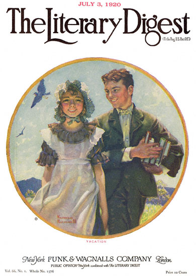 Vacation by Norman Rockwell from the July 3, 1920 issue of The Literary Digest