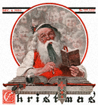 Santa and Expense Book from the December 4, 1920 Saturday Evening Post cover