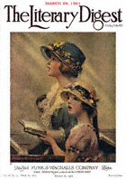 Norman Rockwell's Mother and Daughter Singing in Church from the March 26, 1921 Literary Digest cover