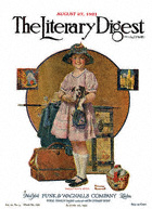 Norman Rockwell's Vacation's Over from the August 27, 1921 Literary Digest cover