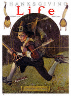 Norman Rockwell's Pilgrims Progress from the November 17, 1921 Life Magazine cover