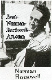 Photo of Norman Rockwell from the June 1921 Federal Illustrator