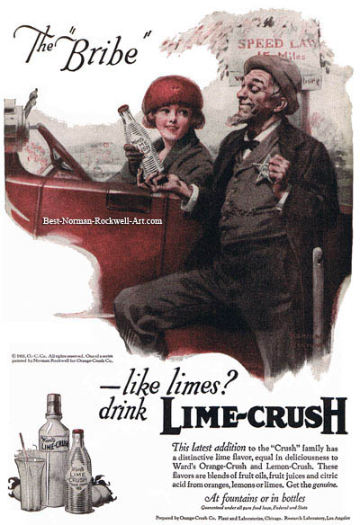 Lime Crush advertisement by Norman Rockwell entitled The Bribe