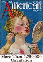 Norman Rockwell's Little Girl with Lipstick from the February 1922 American cover