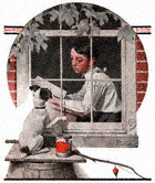 Schoolboy Gazing Out the Window from the June 10, 1922 Saturday Evening Post cover