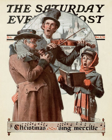 Norman Rockwell Christmas Trio