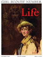 Norman Rockwell's Girl Scouts Number from the November 8, 1924 Life Magazine cover