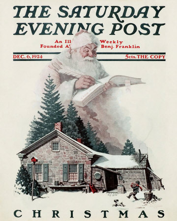 Norman Rockwell Santa's Christmas List