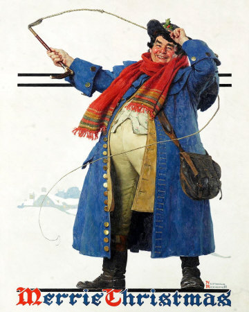 Norman Rockwell Robust Man With Whip