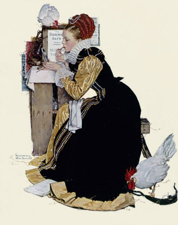 The August 5, 1939 Saturday Evening Post cover by Norman Rockwell entitled Summer Stock