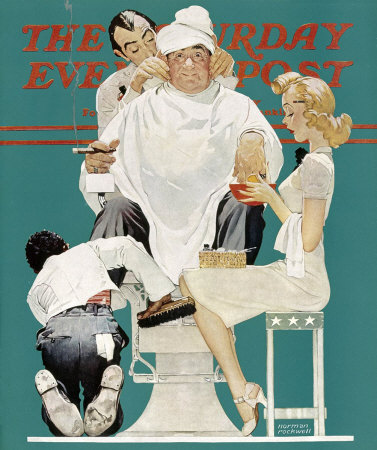 The May 18, 1940 Saturday Evening Post cover by Norman Rockwell entitled Full Treatment