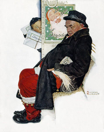 Norman Rockwell: Santa On Train