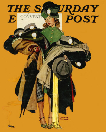 The May 3, 1941 Saturday Evening Post cover by Norman Rockwell entitled The Convention