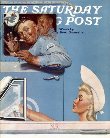 The July 26, 1941 Saturday Evening Post cover by Norman Rockwell entitled The Flirts