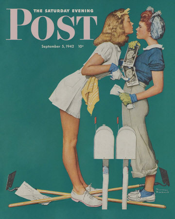 Norman Rockwell: Willie Gillis: Girls with Letters