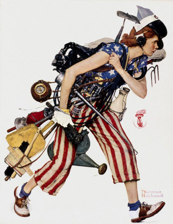 Norman Rockwell: Liberty Girl
