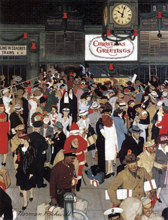 Norman Rockwell: Union Station Chicago