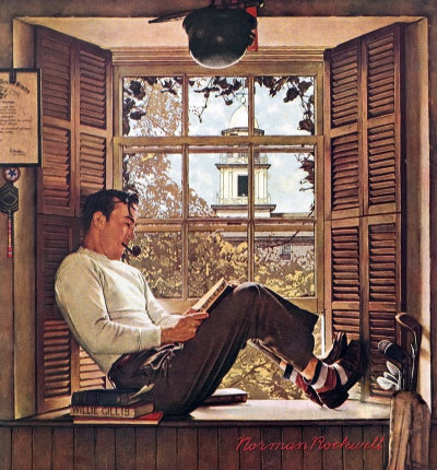Norman Rockwell: Willie Gillis In College