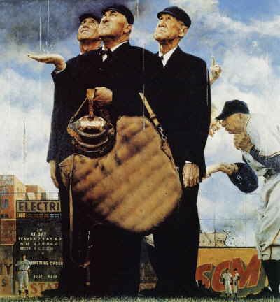 Norman Rockwell: Three Umpires